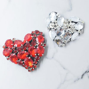 Set of 2 hearts -Sticker Patches
