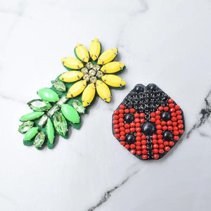 Ladybug & Daisy-Sticker Patches Set of 2