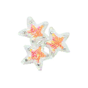 3 Pink Stars-Hair Comb