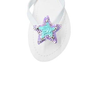 Hamptons (Blue) - Women's Flat Sandal