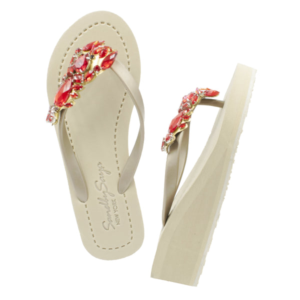 Lobster - Women's Mid Wedge, Red, Lobster