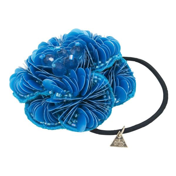Blue Flower- Hair Ties