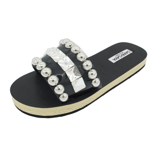 Crystal and Studs - Waterproof Espadrille Flat