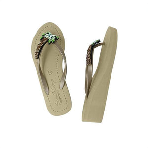 Palm Tree Ex - Women's Mid Wedge-Japan Stock