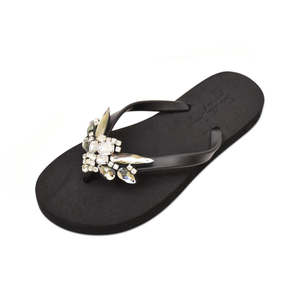 Downtown - Women's Flat Sandal, Crystal