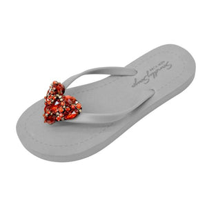 Chelsea Heart (Red)- Women's Flat Sandal