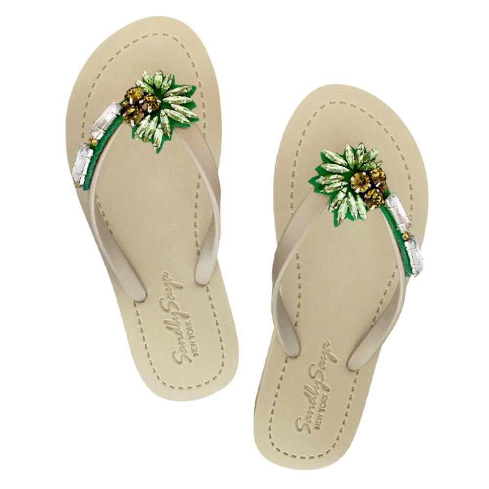 Palm Tree - Women's Flat Sandal-Japan Stock