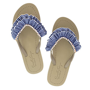 Gold Women's flat Sandals with Rockaway, Flip Flops summer