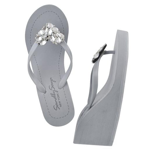 Chelsea Heart (Crystal) - Women's High Wedge