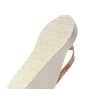 Gold Palm Tree - Women's High Wedge