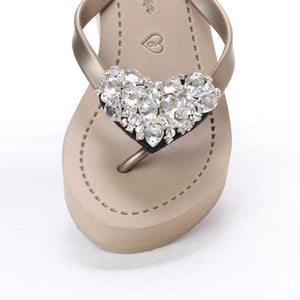 Chelsea Heart (Crystal) - Women's Mid Wedge