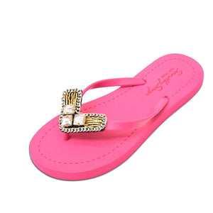 Pink Flat Women's Sandals with Williamsburg