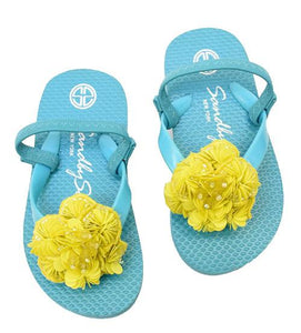 Yellow, Flower, Pink, Blue, Sandal, Noho, Kids, Baby