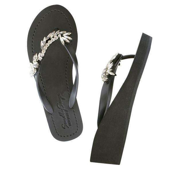 Nomad mid wedge black sandals
