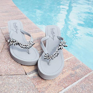Gray Women's High wedge Sandals with Nomad, Flip Flops summer Image