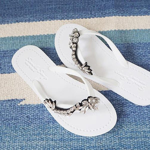 White Image Women's Flat Sandals with Nomad, Flip Flops summer