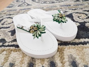 palm tree flat flip flop sandal ladies woman trend fashion designer