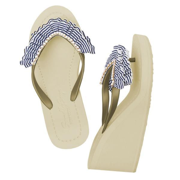 Rockway gold high wedge sandals