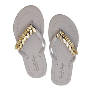 Smith flat gray sandal for ladies