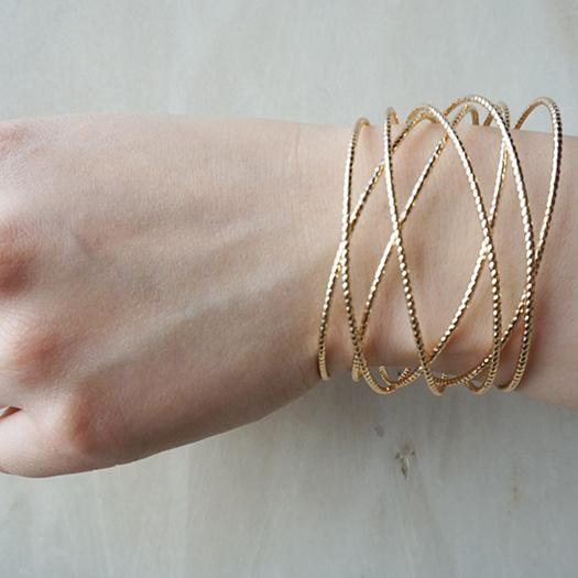 Gold Layered Rope Bangle