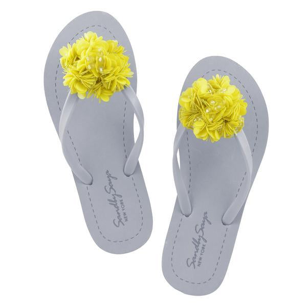 Noho (Yellow Flower), Women's Flat Matte, Yellow, Flower, Sequin