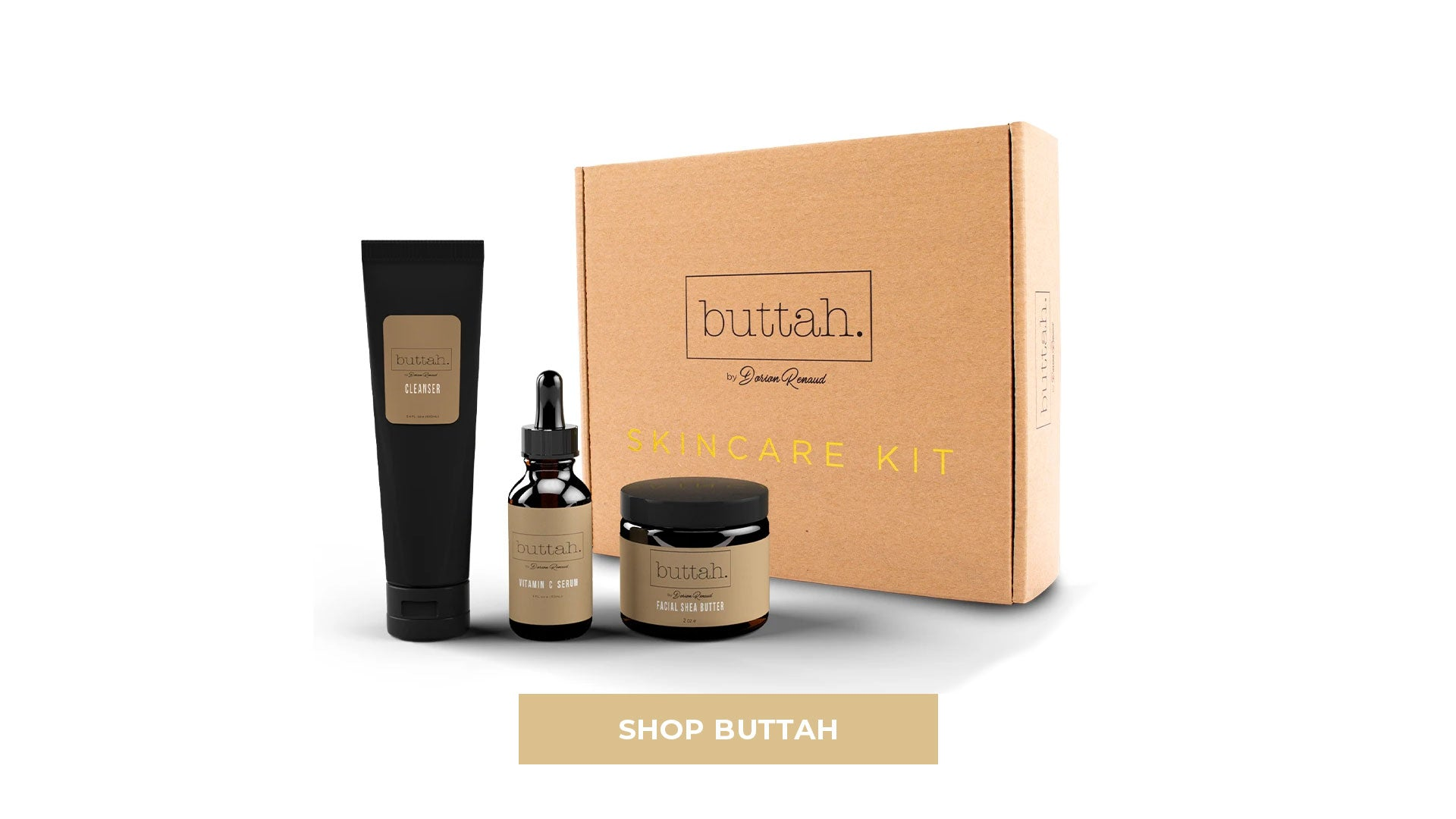 Shop Buttah Skin Kit Cleanser Shea Butter Vitamin C Serum