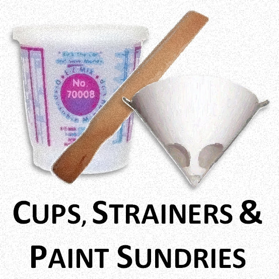 Mixing Cups, Paint Strainers, Stirrers and Paint Sundries