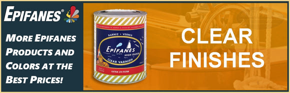 Epifanes Clear Finish and Varnish Collection