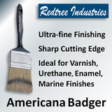 Redtree Americana Badger Brush - Ultra Fine Finishing with Sharp Cutting Edge