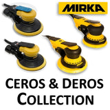 Mirka CEROS and DEROS Electric Sander Collections