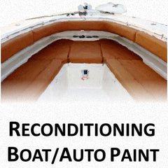 Boat and Automotive Reconditioning Paints, Primers and Repair Compound for Fabric, Plastic and Metal Surfaces