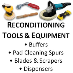 Reconditioning Tools, Buffers, Pad Cleaning Spurs, Blades and Accessories