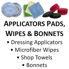 Wax and Dressing Applicators, Micro-fiber & Shop Towels and Bonnets