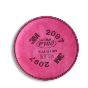 3M P100 Filters with Nuisance Level Organic Vapor Relief, 2097