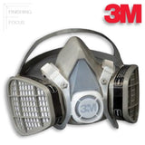 3M 5000 Series Half Face Disposable Respirator with O/V Cartridges