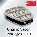 3M Organic Vapor Cartridges, 6001
