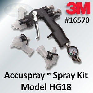 3M Accuspray Spray Gun Kit, Model HG18, Part #16570