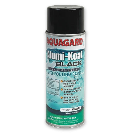 Aquagard Alumi-Koat Antifouling Spray Paint, Black, 71301