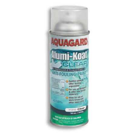 Aquagard Alumi-Koat Antifouling Spray Paint, Clear, 71310