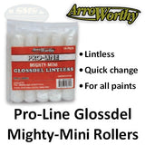 "ArroWorthy Mighty Mini Pro-Line Glossdel 6.5"" Size 3/8"" Nap Roller Cover, 10-Pack, 6.5-GL3CK, 2"