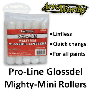 ArroWorthy Mighty Mini Pro-Line Glossdel Lintless Roller Covers