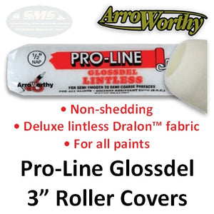 Arroworthy Pro-Line Glossdel Roller Covers, 3 Inch