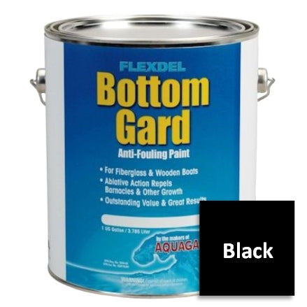 Flexdel Bottom Gard Antifouling Paint, Black, 60101