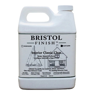 Bristol Finish Classic Clear Soft Satin Interior Urethane Wood Finish, 1 Qt, BF-SSQCW
