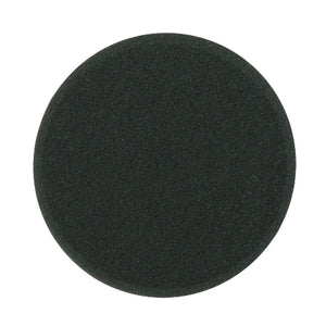 "Buff & Shine 6.5"" Foam Black Beveled Face Pad, Finishing, 612G"