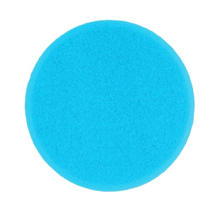 "Buff & Shine 6.5"" Foam Blue Beveled Face Pad, Soft Polishing, 615G"