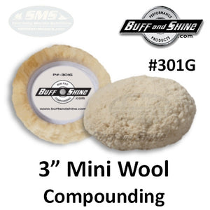 "3"" Mini Wool Compounding Pad, 2-Pack"