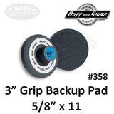 "Buff & Shine 3"" Backup Pad, Stiff Edge, 358"