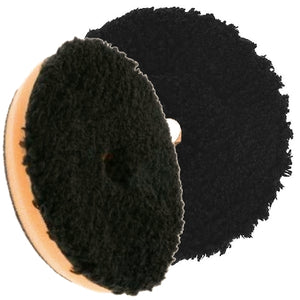 "Buff & Shine 6.5"" Microfiber Black and Orange Buff Pad, Cutting / Polishing, 680MFP"