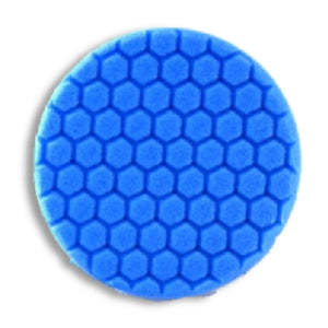 "Buff & Shine 7.5"" Center Ring Blue Foam Hex-Face Buff Pad, Soft Polishing, 640RH"